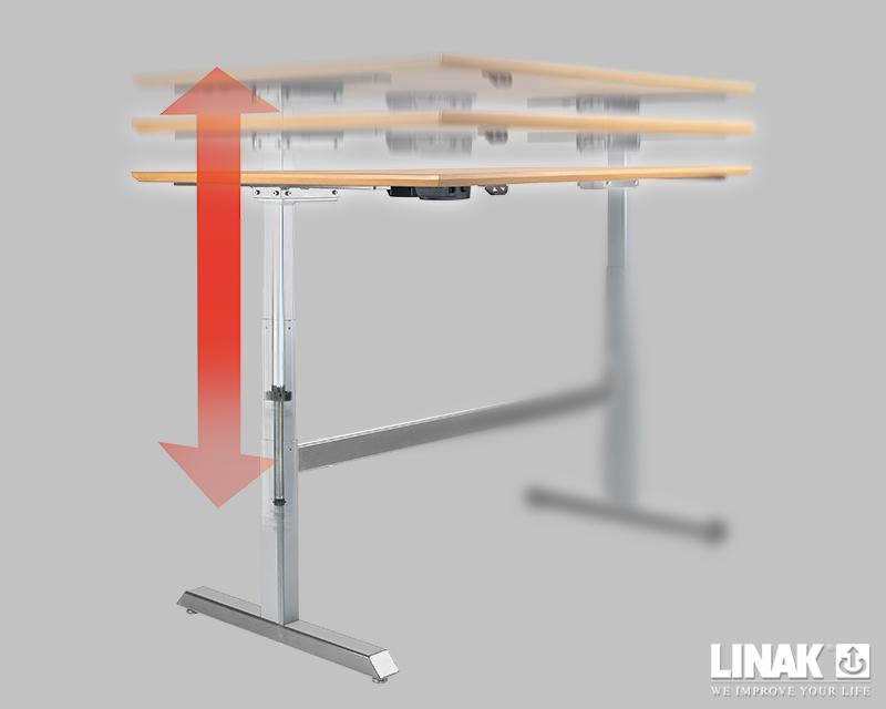 h henverstellbare m bel mit der steh sitz technik. Black Bedroom Furniture Sets. Home Design Ideas